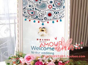 YB-02 水晶之恋个性迎宾牌 婚庆海报 易拉宝 结婚用品,婚庆,