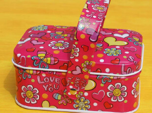 满月喜蛋盒创意婚庆喜糖盒喜烟盒 带手提 手挽方形马口铁盒 特价,婚庆,