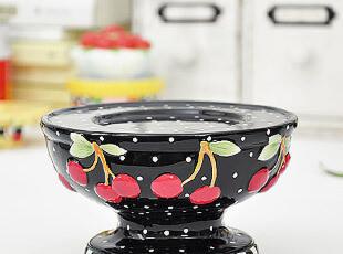小樱桃 外贸陶瓷手绘 烛台 家具饰品摆件 婚庆摆件,婚庆,