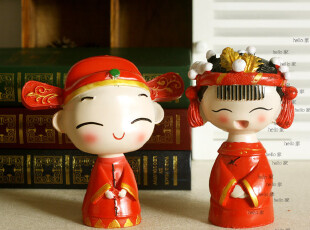 特价 树脂娃娃 婚庆摆设 结婚礼物 新郎新娘摆设 金童玉女,婚庆,