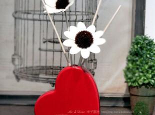 家居装饰摆件空气清新室内香氛 喜庆结婚礼品 红色爱心香薰瓶套装,婚庆,