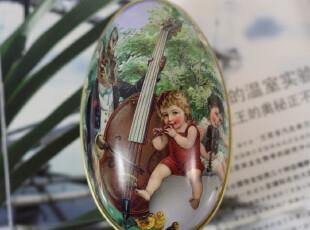 大号复活节彩蛋收纳盒新生喜蛋盒 欧式个性婚庆创意喜糖铁盒批发,婚庆,