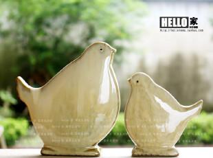 陶瓷窑变工艺 情侣对鸟 可爱趣味鸟 结婚礼物 创意家居饰品摆件,婚庆,