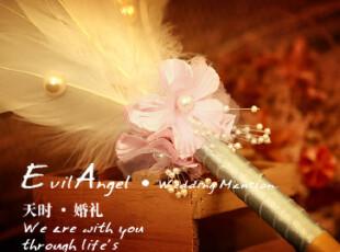 珍妃羽结婚签字笔金色、银色签名笔,婚庆,