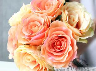 拍摄道具婚庆花艺装饰花仿真花 幸福恋人-7头真心玫瑰手捧花把束,婚庆,