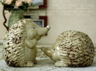 法式乡村田园经典陶瓷刺猬搁架装饰摆件工艺礼品结婚礼品29880,婚庆,