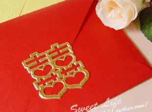 大号2枚装喜字贴纸-深金色 请贴/喜帖贴口  结婚用品 玛瑞玲,婚庆,