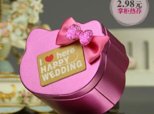 新品上市 文弘高档创意喜糖盒 韩式婚庆喜糖盒子 喜糖盒 铁盒801,婚庆,