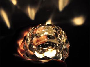 花瓣水晶玻璃烛台/酒吧餐厅摆设/欧式婚庆浪漫装饰/中秋礼物/礼品,婚庆,