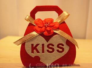 包邮 欧式创意无纺布喜糖包装盒子/个性婚礼/婚庆结婚/成品批发,婚庆,