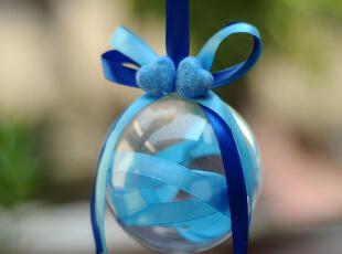 【I64撞色丝带 透明球喜糖盒】结婚礼个性创意喜糖果盒子包装袋,婚庆,