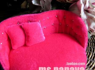 迷你沙发家具 甜美公主鹿皮绒首饰盒 结婚生日情人节 创意礼物,婚庆,