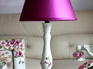 蝴蝶花B款 欧式台灯 卧室床头树脂灯具 创意田园灯饰乔迁结婚礼品,婚庆,