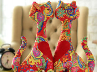 【品牌特卖】奇居良品麂皮绒玩偶情人节结婚礼物玩偶,婚庆,