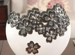 银陶瓷结婚礼物/礼品摆件 创意/实用/花瓶花盆工艺品家居装饰摆设,婚庆,