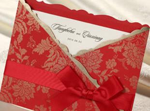 中式请柬结婚喜帖商务邀请函创意2012宝宝满月请帖生日请贴CW1023,婚庆,