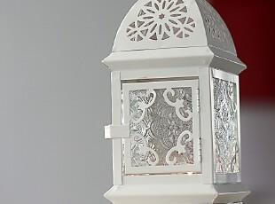 柔软时光 欧式地中海田园家居风灯 可悬挂铁艺镂空烛台 婚庆摆件,婚庆,