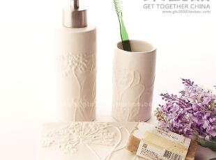 卫浴三件套/陶瓷卫浴套件/婚庆浴室三件套/口杯/皂液器/皂盒,婚庆,