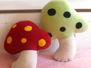 【红裙子布娃娃】点点蘑菇抱枕|靠垫|原创|手工|毛绒|婚庆礼品|,婚庆,