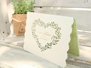 H0235(印)结婚礼欧式白色创意巴伦森唯思美定制请柬喜帖请帖贴,婚庆,