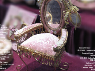 奢华欧式 粉色沙发首饰架 带镜子珠宝架 新居入伙结婚礼物礼品,婚庆,