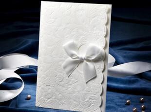 请柬韩国喜帖唯思美白色欧式结婚用品请帖婚礼个性创意西式B0034,婚庆,