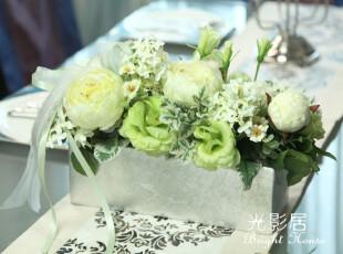【光影新品】绿色心情 整体花艺仿真花假花装饰花餐桌婚庆礼品,婚庆,