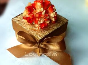 婚庆用品  金色铝箔 橙色红红火火 欧式个性创意 喜糖盒 FHJ03,婚庆,