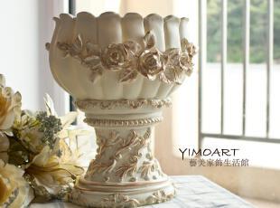 新货到 欧式描金玫瑰花晚礼服形花瓶/器 客厅 卧室结婚家居装饰,婚庆,