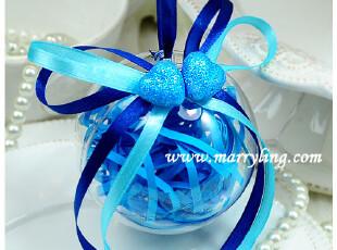 露珠 海蓝色@成品盒/喜糖盒/喜糖袋/结婚礼盒 Marry Ling 婚艺,婚庆,