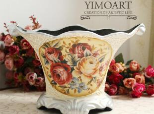 冲钻包邮 欧式古典玫瑰陶瓷花瓶/花器 餐桌花艺装饰摆设结婚礼品,婚庆,