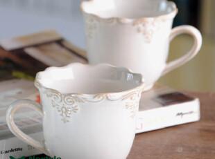 欧式美式复古田园美克美家陶瓷创意马克杯水杯茶杯奶杯结婚礼物,婚庆,