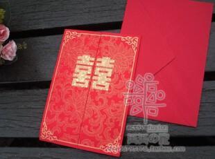 N折系列~ 可立式 金色龙凤印花 结婚专用 双囍卡  {H05},婚庆,