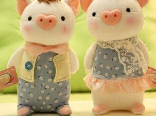 正版 情侣猪公仔 莉莉猪公仔 樱桃猪 毛绒玩具 生日礼物 婚庆礼物,婚庆,