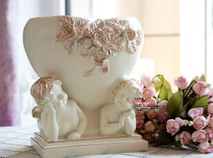 最新货到 欧式斯泰西树脂爱心小天使 装饰花瓶/结婚礼物 家居摆件,婚庆,