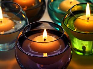 美璃 {赠蜡烛}小灯笼欧式田园浮水蜡台/水晶玻璃烛台/婚庆蜡烛杯,婚庆,
