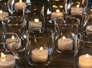 Ids'圣诞特别款扭曲玻璃烛台 派对用品 曲折烛台 婚庆用品 特价,婚庆,