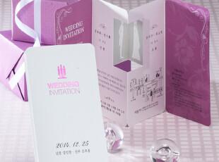 【依米娜喜帖】紫色喜贴个性结婚请帖婚礼请柬创意韩版请贴CH2924,婚庆,