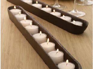 Fers 婚庆派对好帮手 铸铁长条形烛台 烛杯 创意摆设 loft风格,婚庆,
