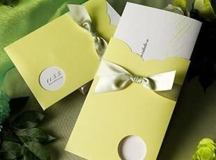 结婚请帖商务创意2012婚礼请柬用品定制韩式绿欧式个性喜帖W1112,婚庆,