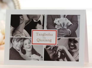 照片请柬婚礼请帖结婚用品个性喜帖白色欧式喜贴定制创意BHP13,婚庆,