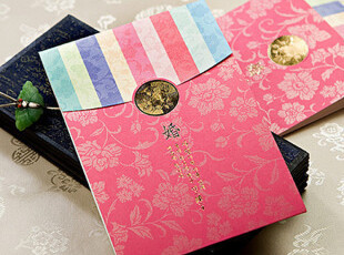 韩式喜贴婚礼请柬结婚喜帖韩国创意婚礼用品个性请帖邀请函W9127,婚庆,