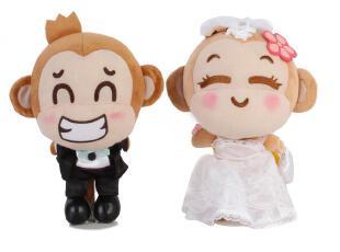 【一淘玩偶季】7折!悠嘻猴 精装卡通婚纱婚礼创意公仔 结婚礼物,婚庆,