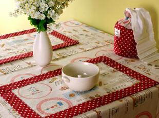 结婚庆祝节日新年圣诞乔迁送礼物礼品棉麻创意可爱布艺餐垫碗垫,婚庆,