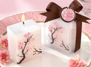 婚礼樱花蜡烛 婚庆蜡烛 情人节小礼物 婚礼回礼 创意时尚礼品,婚庆,