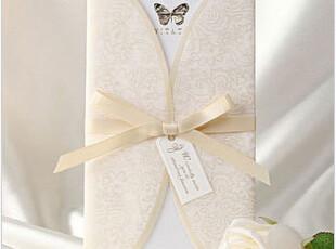 巴伦森唯思美韩式欧式创意请贴高档白色韩式结婚喜帖请柬B8002,婚庆,