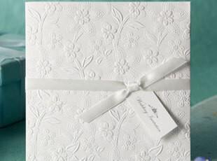 创意2012新品!婚礼用品结婚喜帖个性请帖婚庆请柬白色欧式W1109,婚庆,