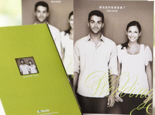 照片喜帖/绿色结婚请柬/韩式请帖定制欧式请贴创意2012定制BHP10,婚庆,