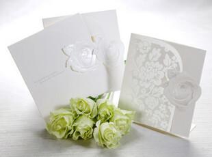 结婚喜帖韩版婚礼用品请柬创意请贴白色欧式个性请帖定制B0017,婚庆,