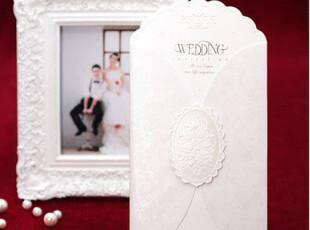 个性请柬结婚请帖欧式西式喜贴高级喜帖白色创意请贴定制B8005,婚庆,